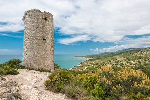 Old tower on the sea coast in Spain
