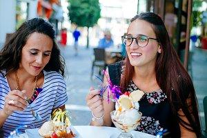 Women with ice cream