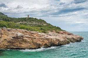 View on the coast in Peniscola,Spain