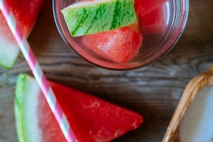 Summer drink watermelon