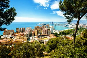 View of the city of Malaga