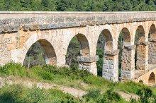 Roman aqueduct in Tarragona Spain