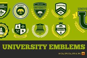 University emblems