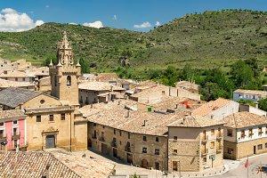 Castle in Spain, Zaragoza,Uncastillo