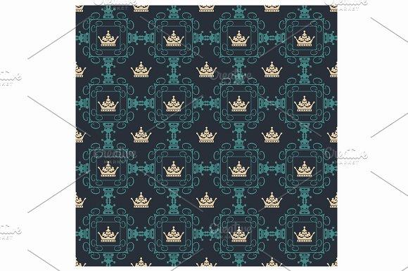 Seamless Pattern Royal Wallpaper