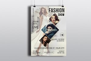 Fashion Show Flyer Template-V599