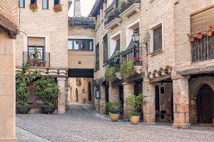 View in the Alquezar castle, Spain
