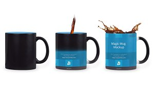 Black Magic Coffee Mug Design Mockup