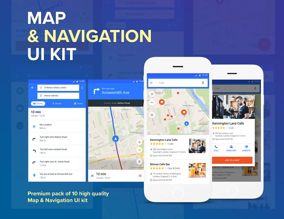 Map - Material Design Templates