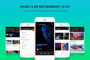 Music & Entertainment - UI Kit