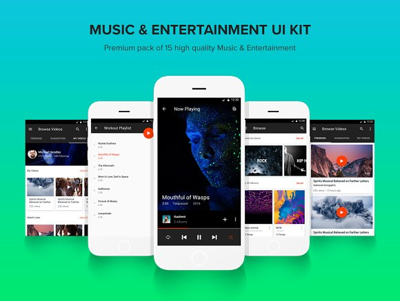 Music & Entertainment - UI Kit