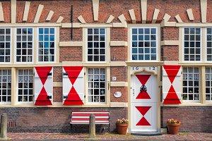 House closeup in Leiden, Netherlands