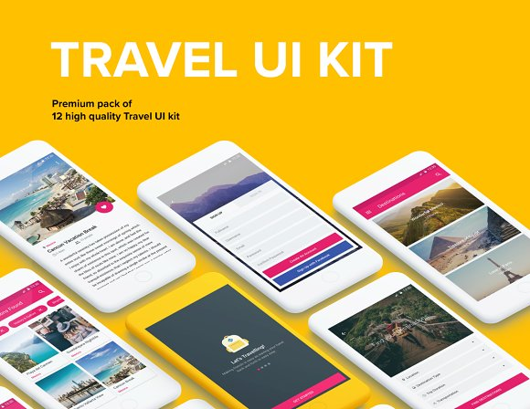 Travel - Material Design Templates