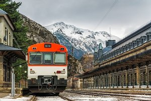 Train station of Canfranc, Spain