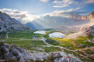 Alpine mountain sunrise