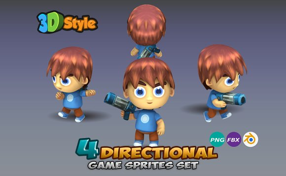 4- Directional Game Character Sprite