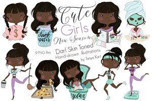 Cute Girls New Season dark skin tone