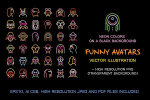 Set of Funny vector avatars (part 3)