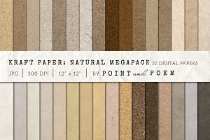 Kraft Paper Texture Pack - Neutral