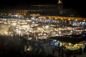 The Jemaa el-Fnaa square