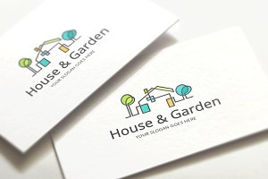 House & Garden - Real Estate Logo