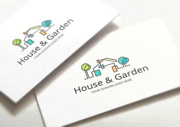 House Garden Logo Template