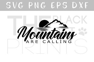 Mountains are calling SVG DXF EPS