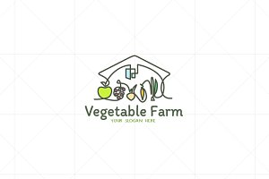 Vegetables / Fruits Farm Logo