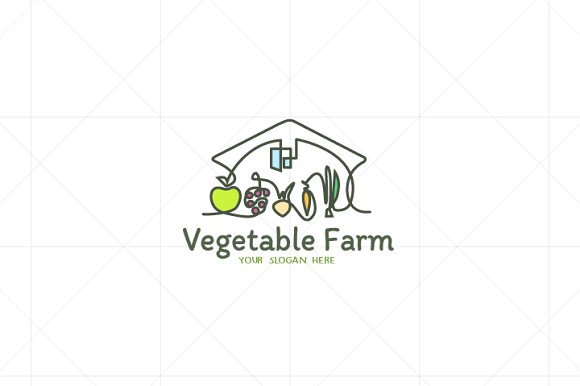 Vegetables Fruits Farm Logo