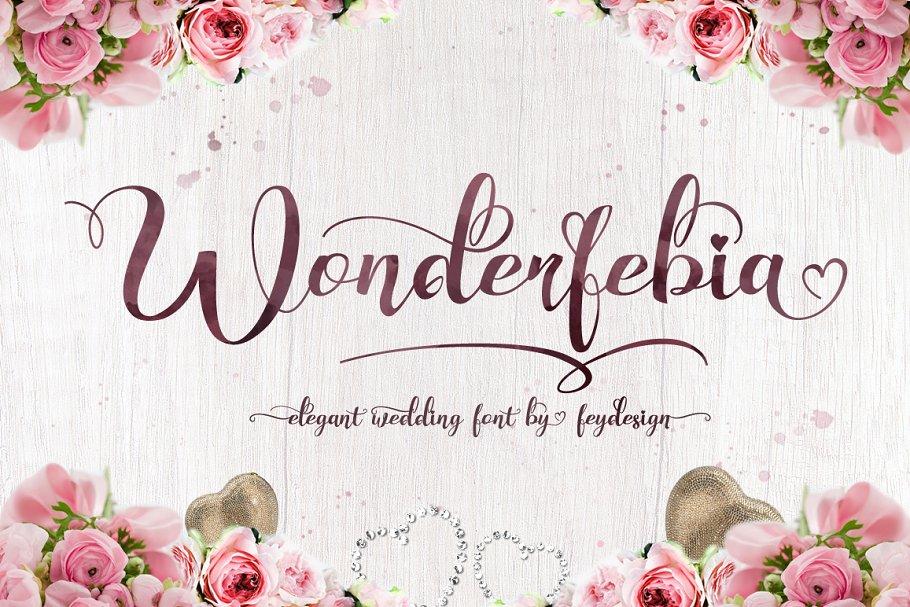 Wedding Scripts Fonts.Wonderfebia Script Wedding Font Script Fonts Creative