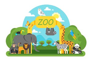 Zoo background