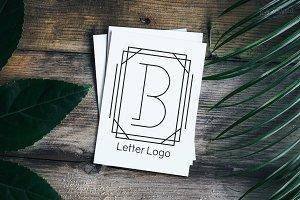 Letter B Company Logo Set