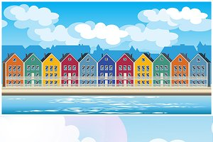 Colorful Townhouses mini Set