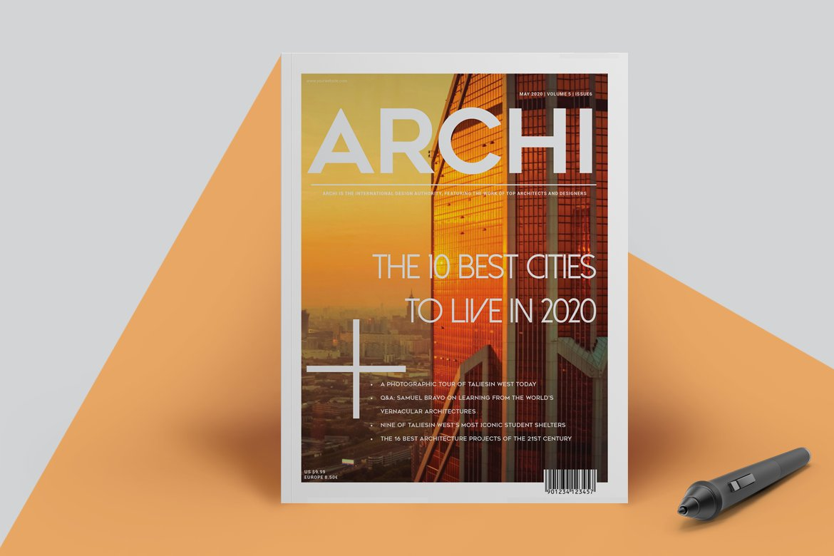 Architecture magazine magazine templates creative market for Architektur magazin
