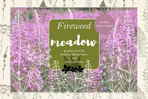 Fireweed meadow set