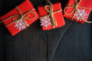 Christmas festive frame