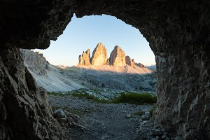Tre Cime view from the cave