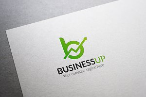 Business Up Letter B Logo