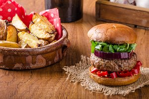 Beef burger with chilli