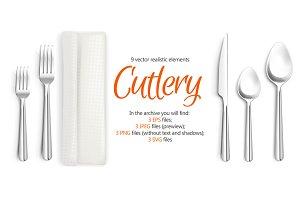 Cutlery Realistic Set
