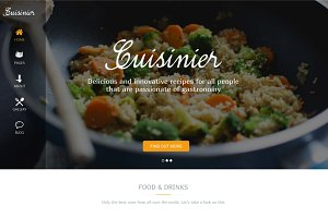 CUISINIER – FOOD BLOG WORDPRESS THEM