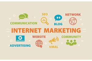 Internet Marketing. Concept with icons.