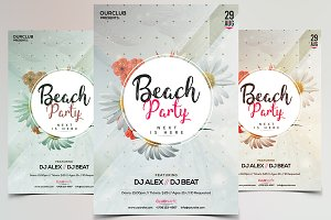 Beach Party - PSD Flyer Template