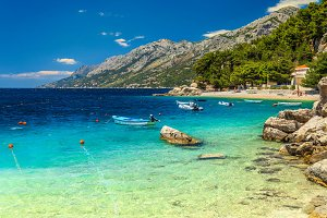 Mediterranean beach in Croatia