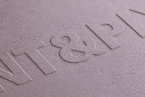 Recycled paper close-up logo mock-up