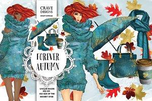 Forever Autumn Clip Art