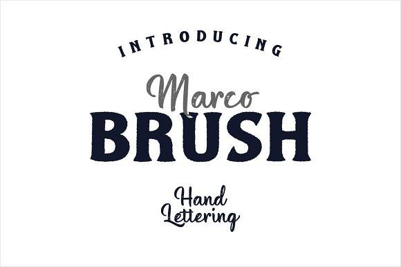 Marco Brush Dual Fonts