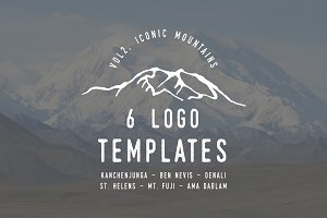 Iconic Mountain Logo Templates Vol 2