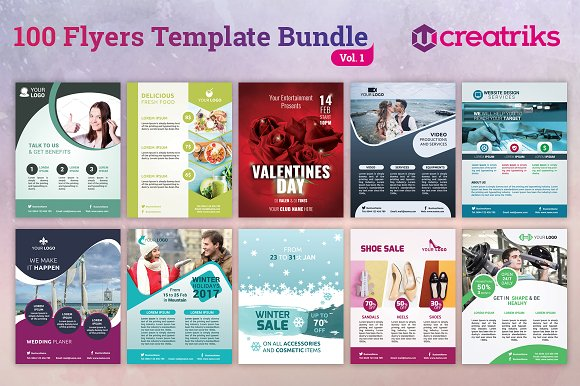 100 Awesome Flyer Templates Flyer Templates Creative Market