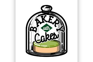 Color vintage bakery emblem